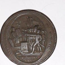 Medallas históricas: MONEDA 5 SOLES DE PACTO FEDERATIVO 14 JULIO 1790. Lote 160360636