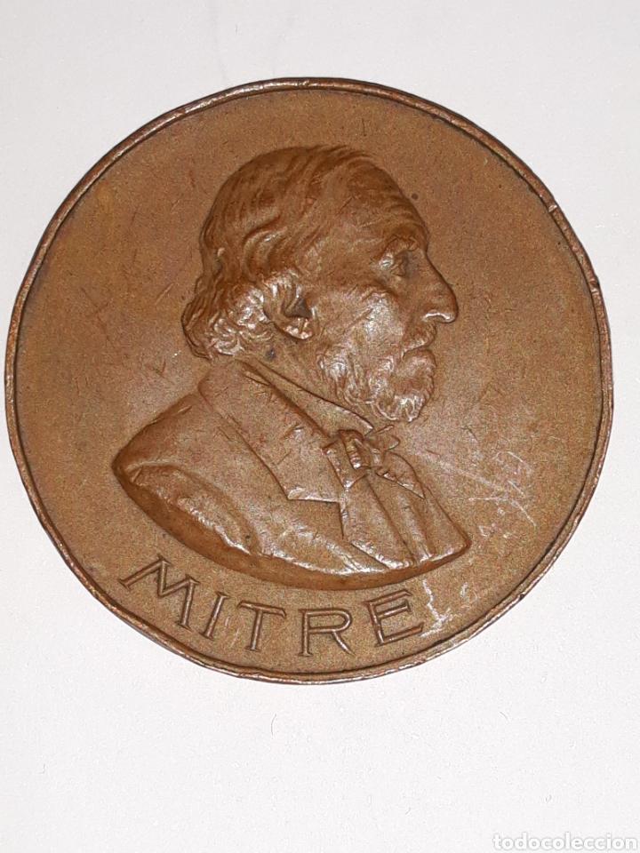 MEDALLA DEL OCTOGESIMO ANIVERSARIO DEL NACIMIENTO DE BARTOLOME MITRE 29 JUNIO 1901 (Numismática - Medallería - Histórica)