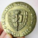 Medallas históricas: INEDITA! GRAN MONEDA METOPA MEDALLA XI CONGRESO NACIONAL O.R.L MEDICINA 1981 MURCIA. Lote 160789414