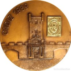 Medallas históricas: ESPAÑA. MEDALLA AVIACIÓN Y ESPACIO. CÁDIZ 1.989. BRONCE. Lote 161288978