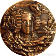 Medallas históricas: ESPAÑA. MEDALLA 100 AÑOS CÁMARAS DE COMERCIO, INDUSTRIA Y NAVEGACIÓN. 1.986. C/ CAJA Y FOLLETO. Lote 161291382