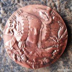 Medallas históricas: MEDALLA DE COBRE 100 AÑOS DE CÁMARA DE COMERCIO INDUSTRIA Y NAVEGACIÓN 1886 1986 . Lote 161801174