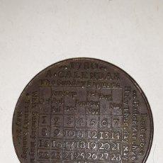 Medallas históricas: RARA MEDALLA O FICHA DEL CALENDARIO 1780.A CALENDAR 1780.BRITISH MUSEUM. Lote 162108620