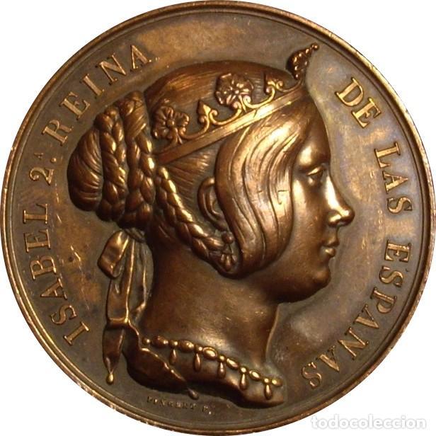 ESPAÑA. ISABEL II. MEDALLA DEL CUERPO DE INGENIEROS DEL EJERCITO. 1.847 (Numismática - Medallería - Histórica)