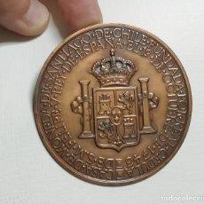 Medallas históricas: CASA DE LA MONEDA DE CHILE, FUNDADA POR REAL CEDULA, FELIPE V REY DE ESPAÑA 1743, EL 26 DE ABRIL DE. Lote 175961764