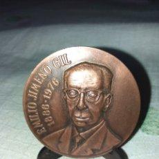 Medallas históricas: MEDALLA DE BRONCE ESPAÑA CONMEMORATIVA DE LA EXPOQUIMICA 84 , CELEBRADA EN BARCELONA .REGALO SOPORTE. Lote 120698799