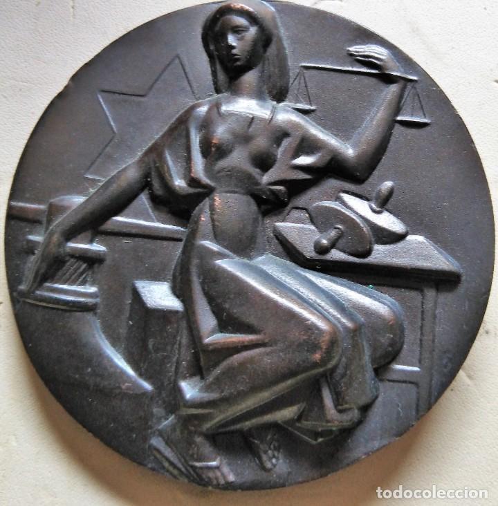 ESPAÑA. MEDALLA F.N.M.T. INAUGURACIÓN CASA DE LA MONEDA. 1.964. BRONCE (Numismática - Medallería - Histórica)