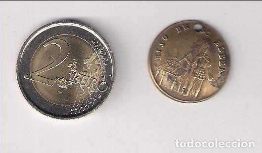 MEDALLA DE COBRE DE SANTA ELENA Y SU HIJO. (MD102) (Numismática - Medallería - Histórica)