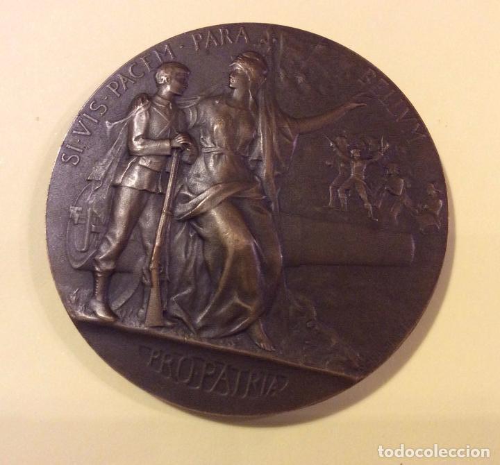 MEDALLA PACEM PARA BELLVM 1911 PRO PATRIA BRONZE PATINADO (Numismática - Medallería - Histórica)