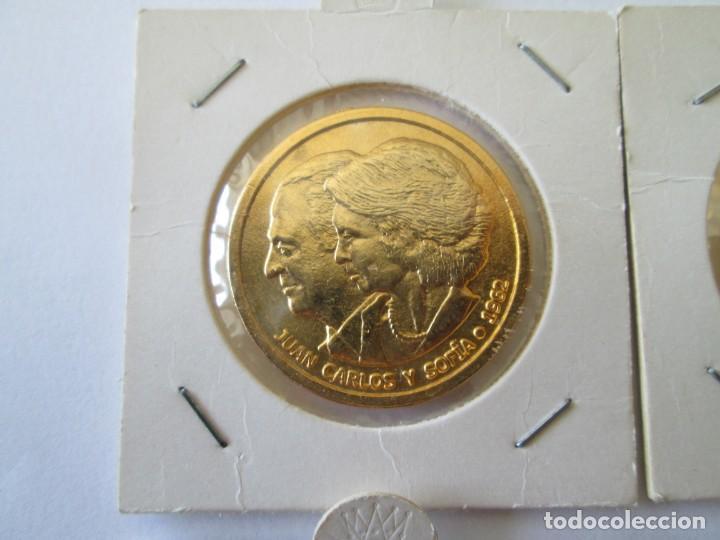 Medallas históricas: LOTE DE 4 MEDALLAS DE BODAS REALES - Foto 2 - 165797498