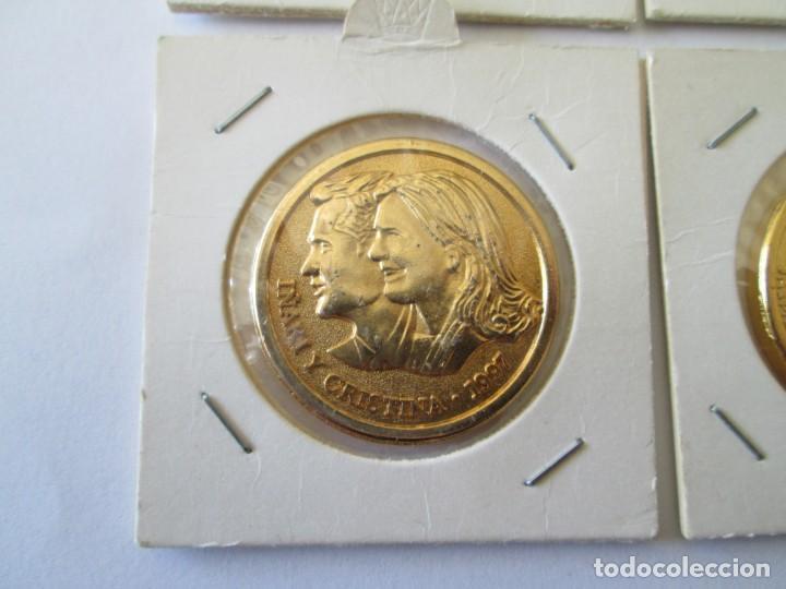Medallas históricas: LOTE DE 4 MEDALLAS DE BODAS REALES - Foto 4 - 165797498