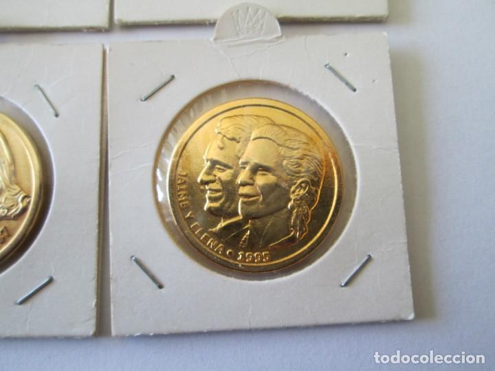 Medallas históricas: LOTE DE 4 MEDALLAS DE BODAS REALES - Foto 5 - 165797498
