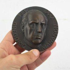 Medallas históricas: GREGORIO MARAÑÓN, MEDALLA DE BRONZE, CON INSCRIPCIÓN INTELLIGE CLAMOREM MEUM. 8,5 CM DIÁMETRO.. Lote 165950714