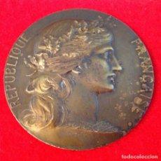 Medallas históricas: MEDALLA ASOCIACIÓN ALCALDES, MODERNISTA DE BRONCE, DE DANIEL DUPUIS, CINCUENTENARIO 1884-1934, 5 CM.. Lote 166267498