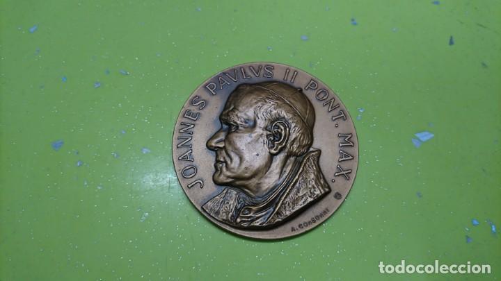 MEDALLA JUAN PABLO II VISITA A VENEZUELA 1985 (Numismática - Medallería - Histórica)