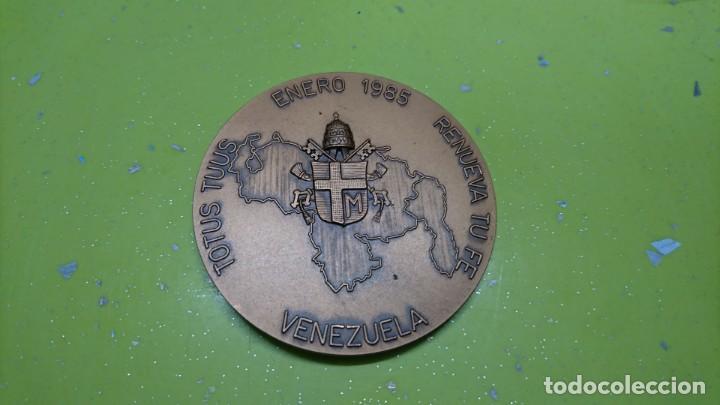 Medallas históricas: MEDALLA JUAN PABLO II VISITA A VENEZUELA 1985 - Foto 2 - 166919192