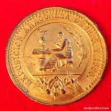 Medallas históricas: MEDALLA DE LA EXPOSICIÓN ARAGONESA 1885 Y 1886, REAL SOCIEDAD ECONÓMICA ARAGONESA, 53 MM. DORADA.. Lote 168172412