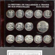 Medallas históricas: LA HISTORIA DE VALLADOLID A TRAVES DE SUS PERSONAJES EN PLATA 925/000 JUEGO DE ARRAS . Lote 168835896