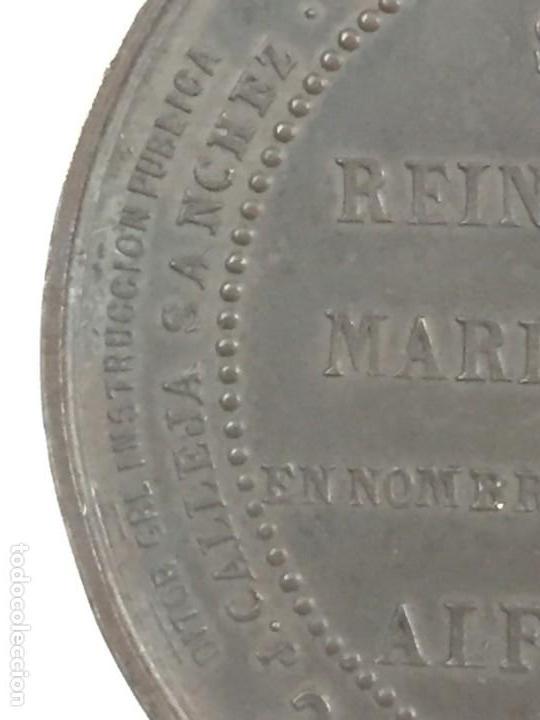 Medallas históricas: MEDALLA CONMEMORATIVA DE LA INAUGURACIÓN DE OBRAS FACULTADES DE MEDICINA Y CIENCIAS ZARAGOZA 1.887 - Foto 6 - 169601144