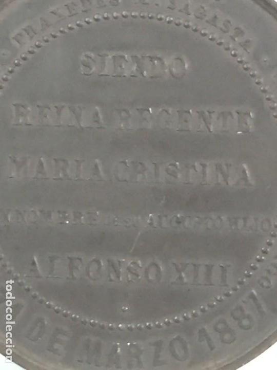 Medallas históricas: MEDALLA CONMEMORATIVA DE LA INAUGURACIÓN DE OBRAS FACULTADES DE MEDICINA Y CIENCIAS ZARAGOZA 1.887 - Foto 8 - 169601144