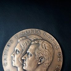 Medallas históricas: MEDALLA BRONCE PROCLAMACIÓN DE LOS REYES JUAN CARLOS I Y SOFÍA. 22 NOVIEMBRE DE 1975.. Lote 170334709