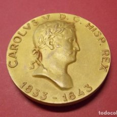 Medallas históricas: MEDALLA REY CARLOS V - EN BRONCE DORADO - CALICO BARCELONA 1968 - REYES DE ESPAÑA... L97. Lote 170723355