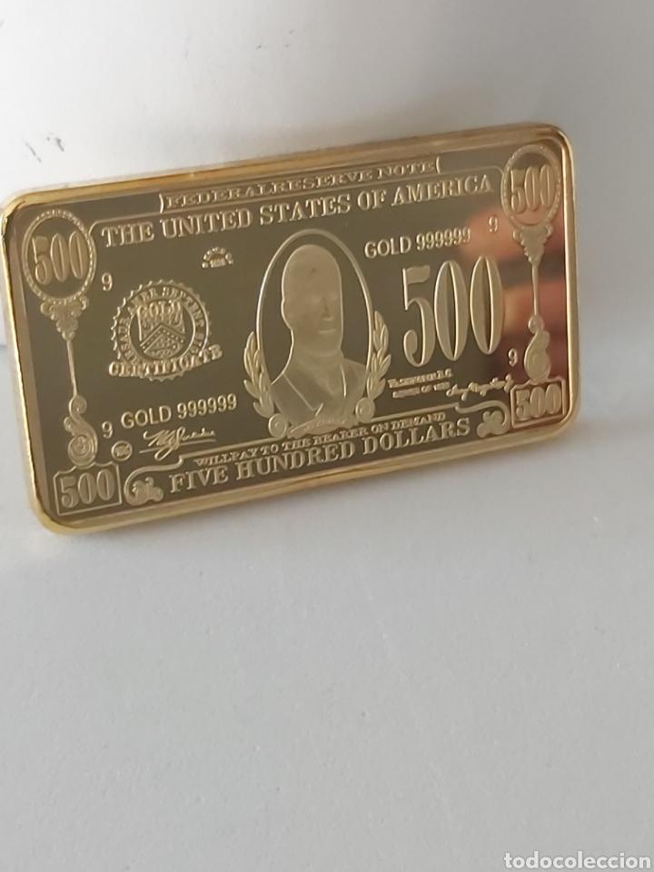 EXCLUSIVO LINGOTE DE ORO DE 500 DOLARES (PRESIDENTE WILLIAM MCKINLEY) (Numismática - Medallería - Histórica)