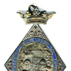 Medallas históricas: XS- MEDALLA SOCIEDAD BARCELONESA DE AMIGOS DEL PAIS ESMALTADA RARA. Lote 171063439