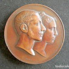 Medallas históricas: MEDALLA BODA REAL REY ALFONSO XII Y MARÍA DE LAS MERCEDES. AÑO 1878. BASÍLICA DE ATOCHA, MADRID.. Lote 171304752