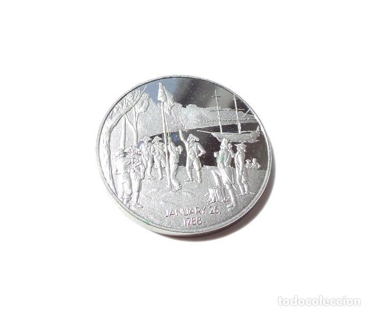 MEDALLA DE PLATA BICENTENARIO AUSTRALIA 1788-1988. (Numismática - Medallería - Histórica)