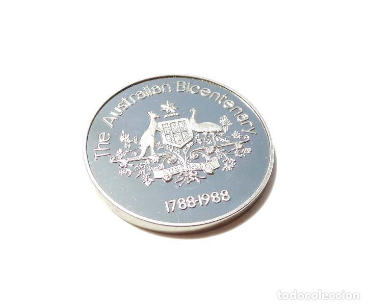 Medallas históricas: MEDALLA DE PLATA BICENTENARIO AUSTRALIA 1788-1988. - Foto 2 - 171992524