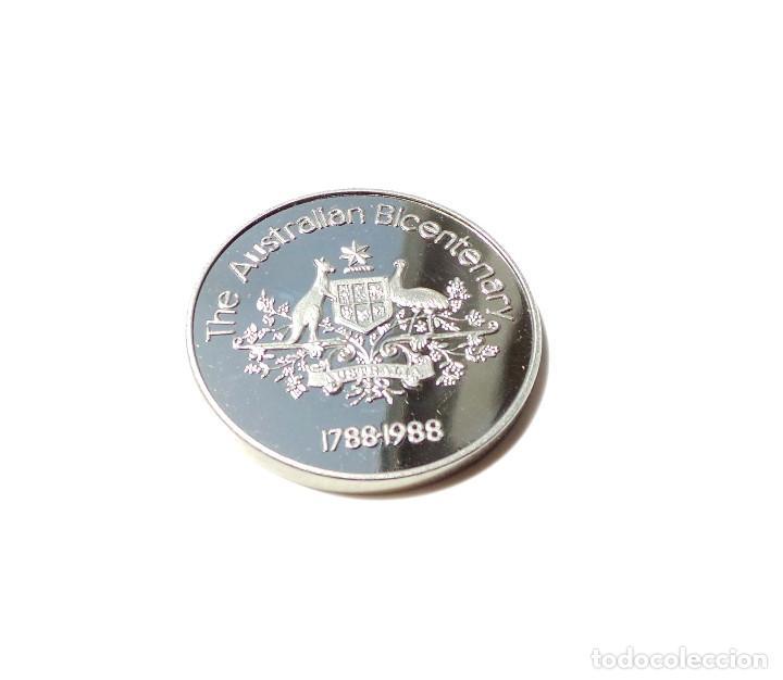 Medallas históricas: MEDALLA DE PLATA BICENTENARIO AUSTRALIA 1788-1988. - Foto 3 - 171992524