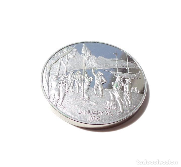 Medallas históricas: MEDALLA DE PLATA BICENTENARIO AUSTRALIA 1788-1988. - Foto 5 - 171992524