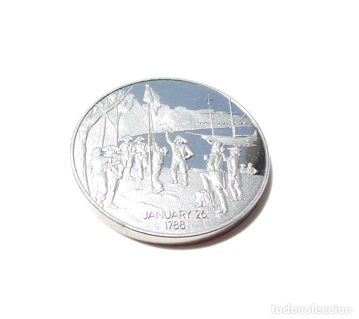 Medallas históricas: MEDALLA DE PLATA BICENTENARIO AUSTRALIA 1788-1988. - Foto 6 - 171992524