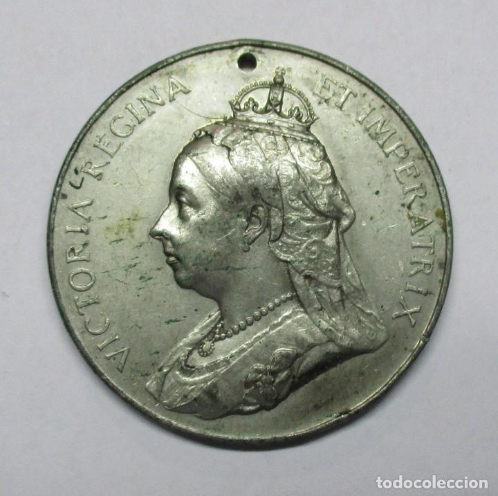 GRAN BRETAÑA, 1897. MEDALLA DEL JUBILEO DE DIAMANTE DE LA REINA VICTORIA. LOTE 0082 (Numismática - Medallería - Histórica)