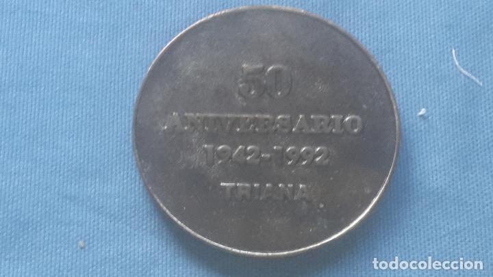 Medallas históricas: SEMANA SANTA SEVILLA - HDAD SAN GONZALO - MEDALLA 50 ANIVERSARIO DE SU FUNDACION 8 CM. - Foto 2 - 172452054