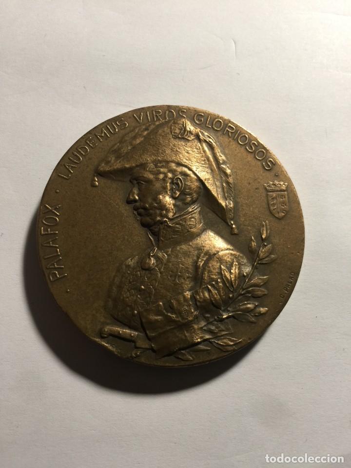MEDALLA 1908. CENTENARIO DEL SITIO DE ZARAGOZA. (Numismática - Medallería - Histórica)