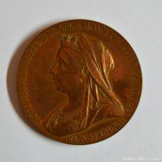 Medallas históricas: INGLATERRA, 1897. MEDALLA DE COBRE DE LA REINA VICTORIA VICTORIA DE INGLATERRA. LOTE 0086. Lote 172643283