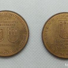 Medallas históricas: 2 MEDALLAS DE HAMBURGO (ALEMANIA). Lote 173138995