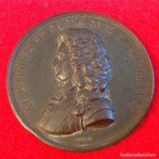 Medallas históricas: MEDALLA DE BRONCE DEL 2 CENTENARIO DEL NACIMIENTO DEL MARQUÉS DE SANTA CRUZ DE MARCENADO, 1884. Lote 173406064