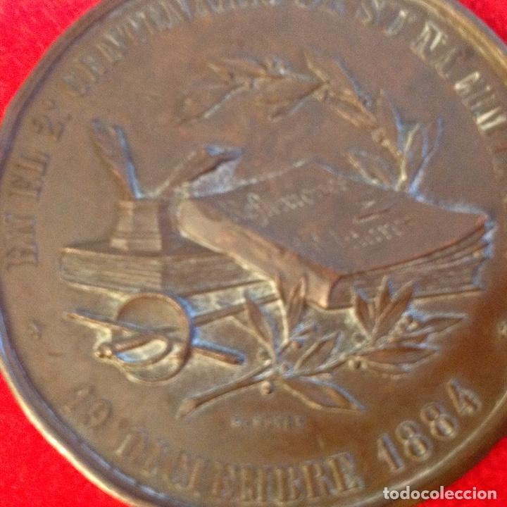 Medallas históricas: Medalla de bronce del 2 centenario del nacimiento del marqués de Santa Cruz de Marcenado, 1884 - Foto 9 - 173406064