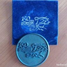 Medallas históricas: MEDALLA CONMEMORATIVA DEL 150 ANIVERSARIO DEL MINISTERIO DE FOMENTO. Lote 173879502