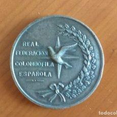 Medallas históricas: MEDALLA CONMEMORATIVA DEL 75 ANIVERSARIO DE LA REAL FEDERACIÓN COLOMBÓFILA ESPAÑOLA (1969). Lote 173879615