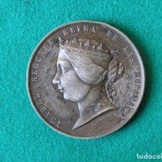 Medallas históricas: MEDALLA GUERRA DE MARRUECOS - ISABEL II - 1859 - METAL BLANCO - EBC. Lote 174172915