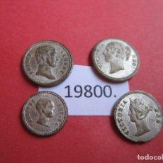 Medallas históricas: LOTE 4 MEDALLITAS DE PLATA INGLESAS EPOCA VICTORIANA, SIGLO XIX, MEDALLAS, INGLATERRA, UK. Lote 174342639