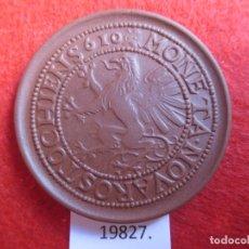Medallas históricas: MEDALLA DE CERAMICA DE MEISSEN , CIUDAD DE ROSTOCK, PORCELANA. Lote 174343623