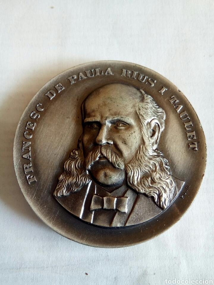 MEDALLA DE FRANCESC DE PAULA RIUS I TAULET (Numismática - Medallería - Histórica)
