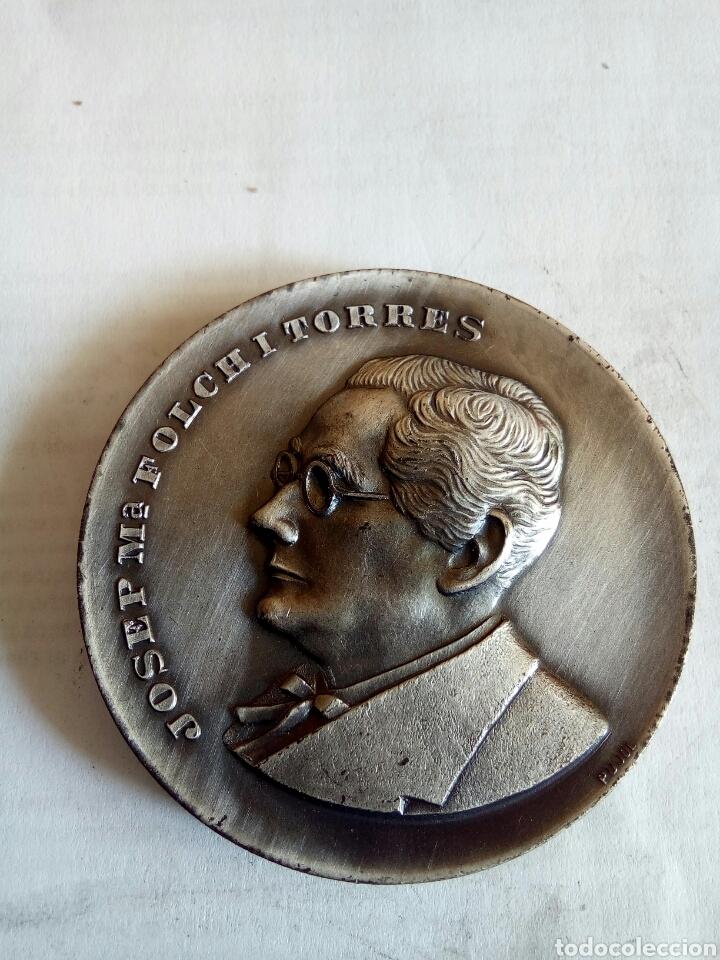 MEDALLA JOSEP M° FOLCH I TORRES (Numismática - Medallería - Histórica)
