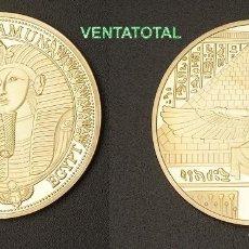 Medallas históricas: MEDALLA ORO TIPO MONEDA HOMENAJE A TUTANKAMON REY FARAON DEL ANTIGUO EGIPTO - PESA 28,20 GRA - Nº1. Lote 205548358