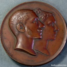 Medallas históricas: MEDALLA CONMEMORATIVA DEL MATRIMONIO DE ALFONSO XII Y MARÍA DE LAS MERCEDES EN BRONCE 1878. Lote 176345189